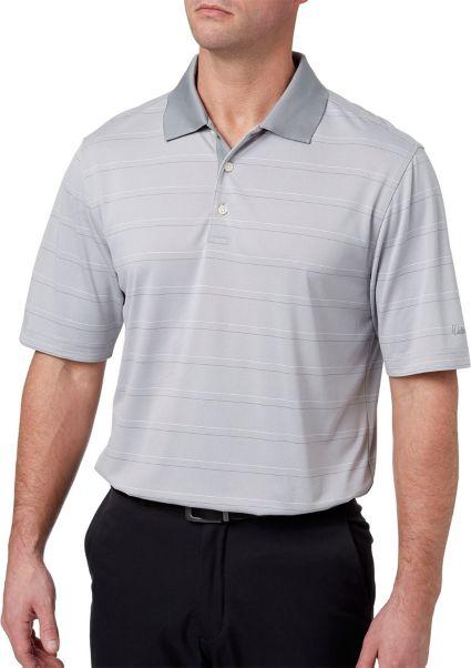 Walter Hagen Men's Essential Fine Line Wide Stripe Golf Polo