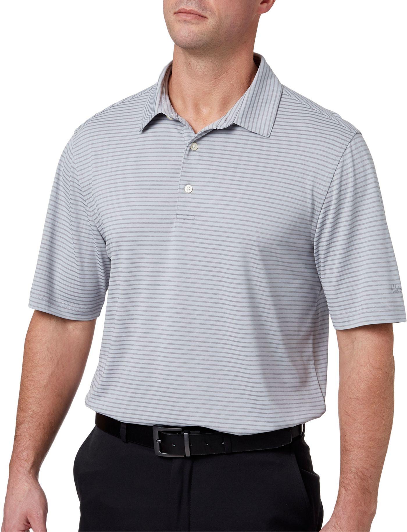 Walter Hagen Men's Essential Texture Stripe Golf Polo