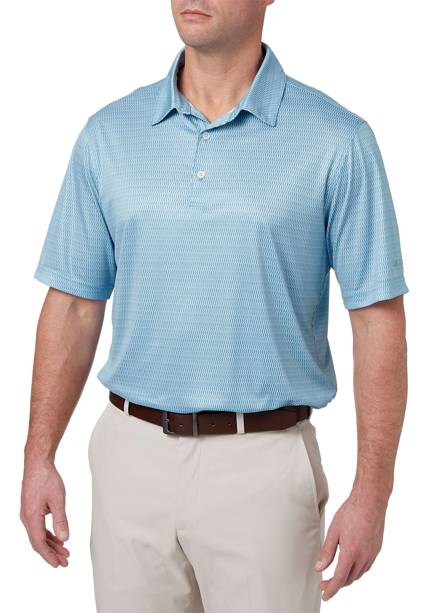 Walter Hagen Men's Essential Oval Printed Golf Polo