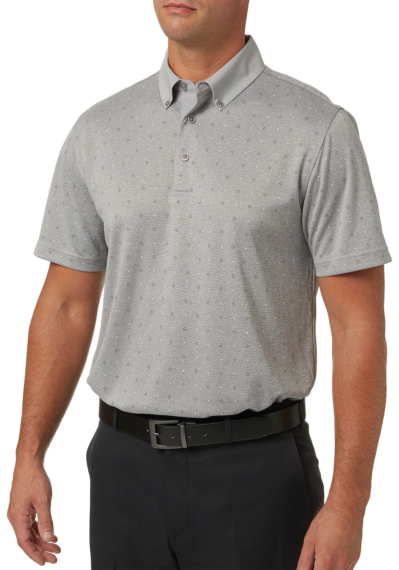 Walter Hagen Men's Stripe Overlay Lifestyle Golf Polo