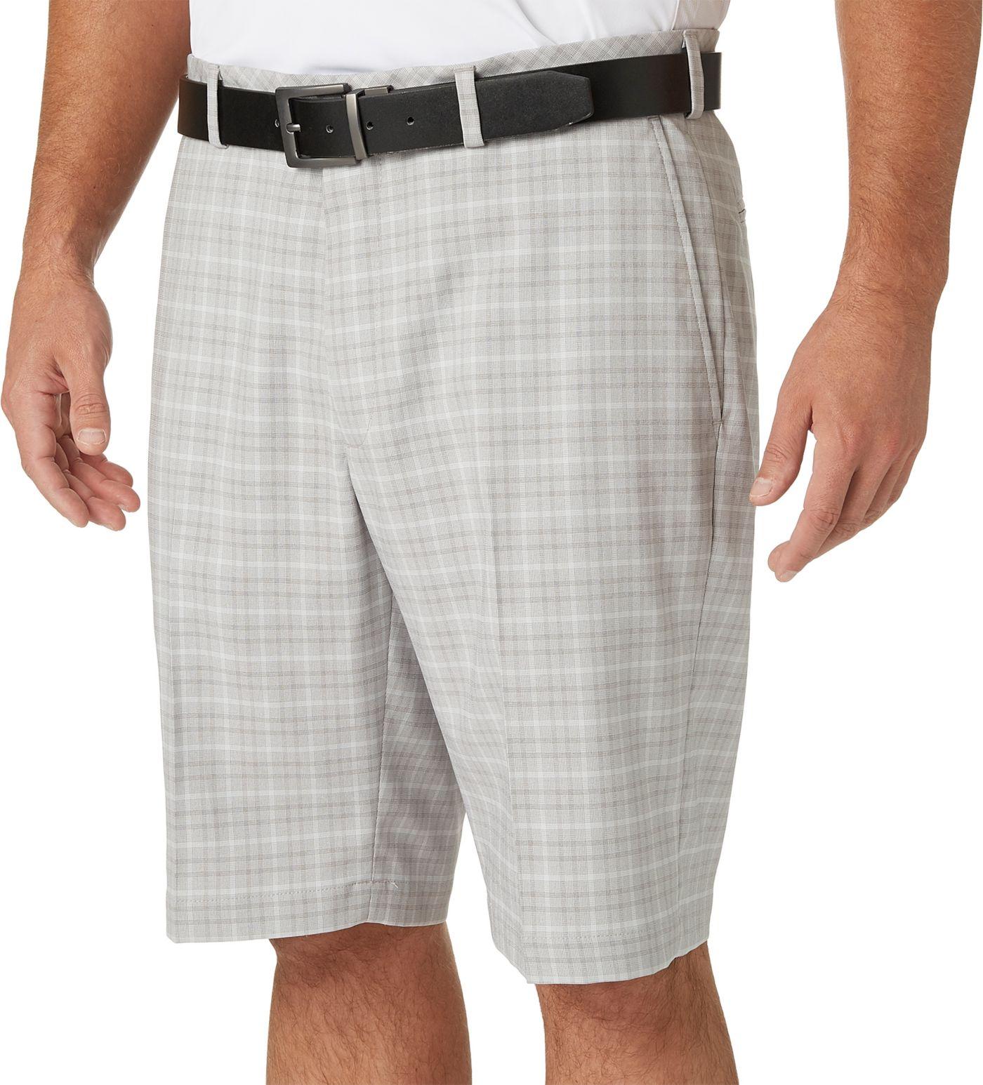 Walter Hagen Men's Tonal Wide Plaid Golf Shorts
