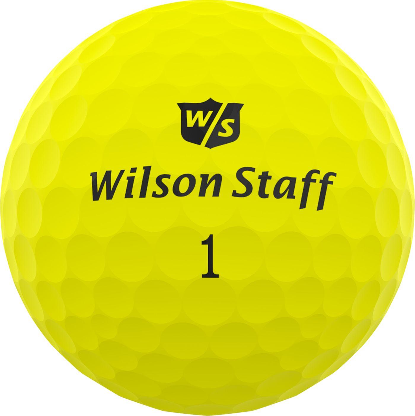 Wilson Staff Duo Professional Golf Balls – Matte Yellow