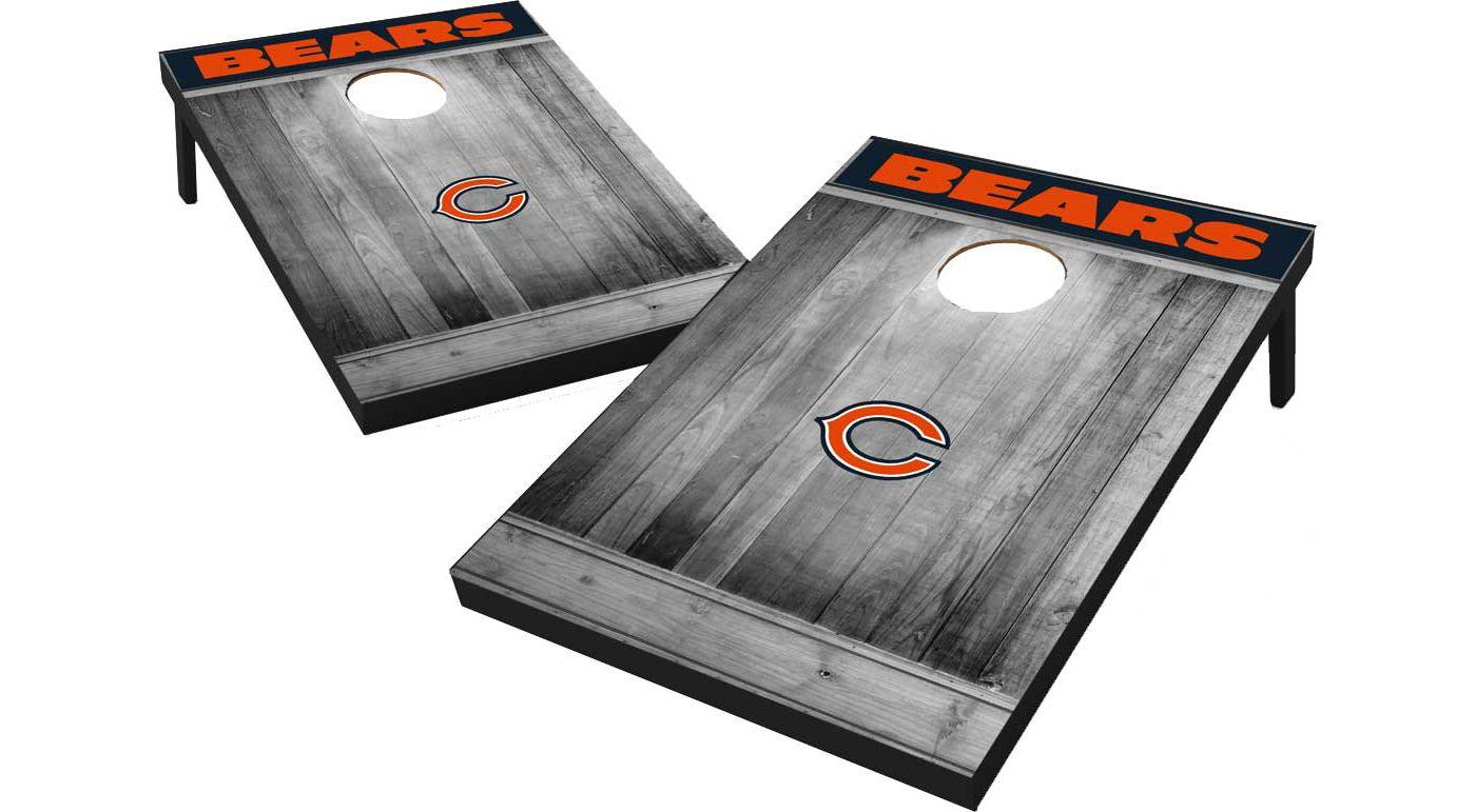 Wild Sports Chicago Bears Grey Wood Tailgate Toss