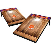 Wild Sports Clemson Tigers NCAA Brown Wood Tailgate Toss