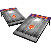 Wild Sports Clemson Tigers NCAA Grey Wood Tailgate Toss