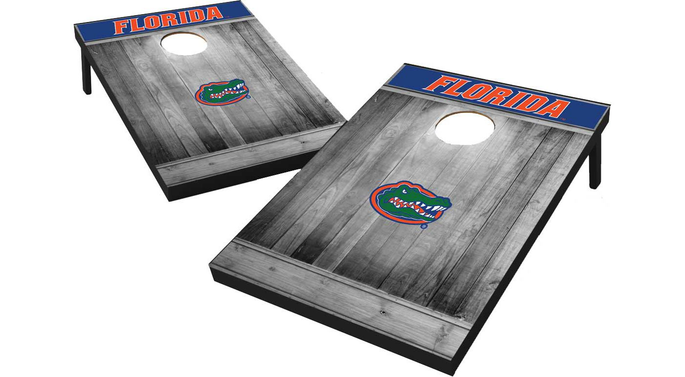 Wild Sports Florida Gators NCAA Grey Wood Tailgate Toss