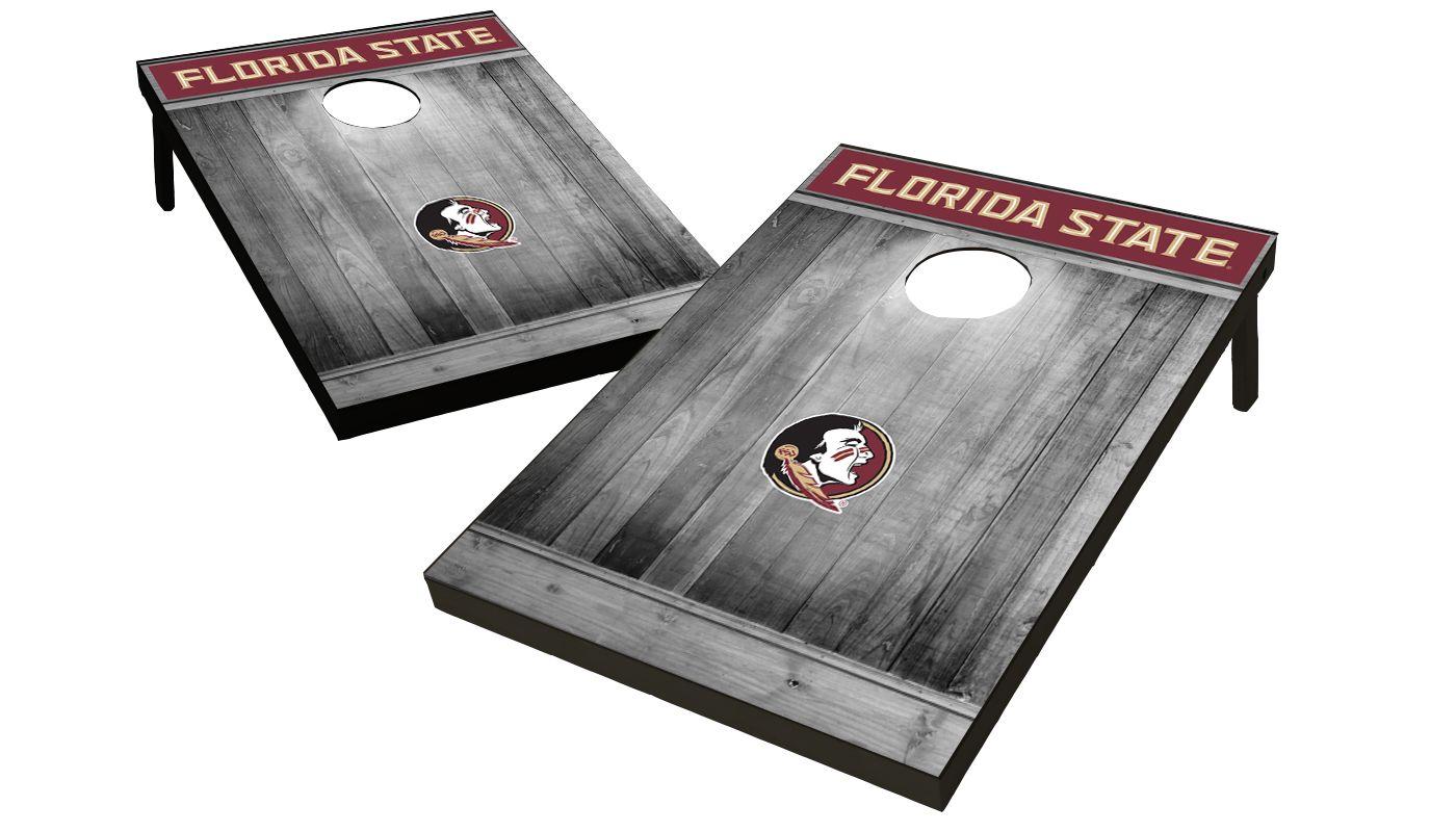 Wild Sports Florida State Seminoles NCAA Grey Wood Tailgate Toss