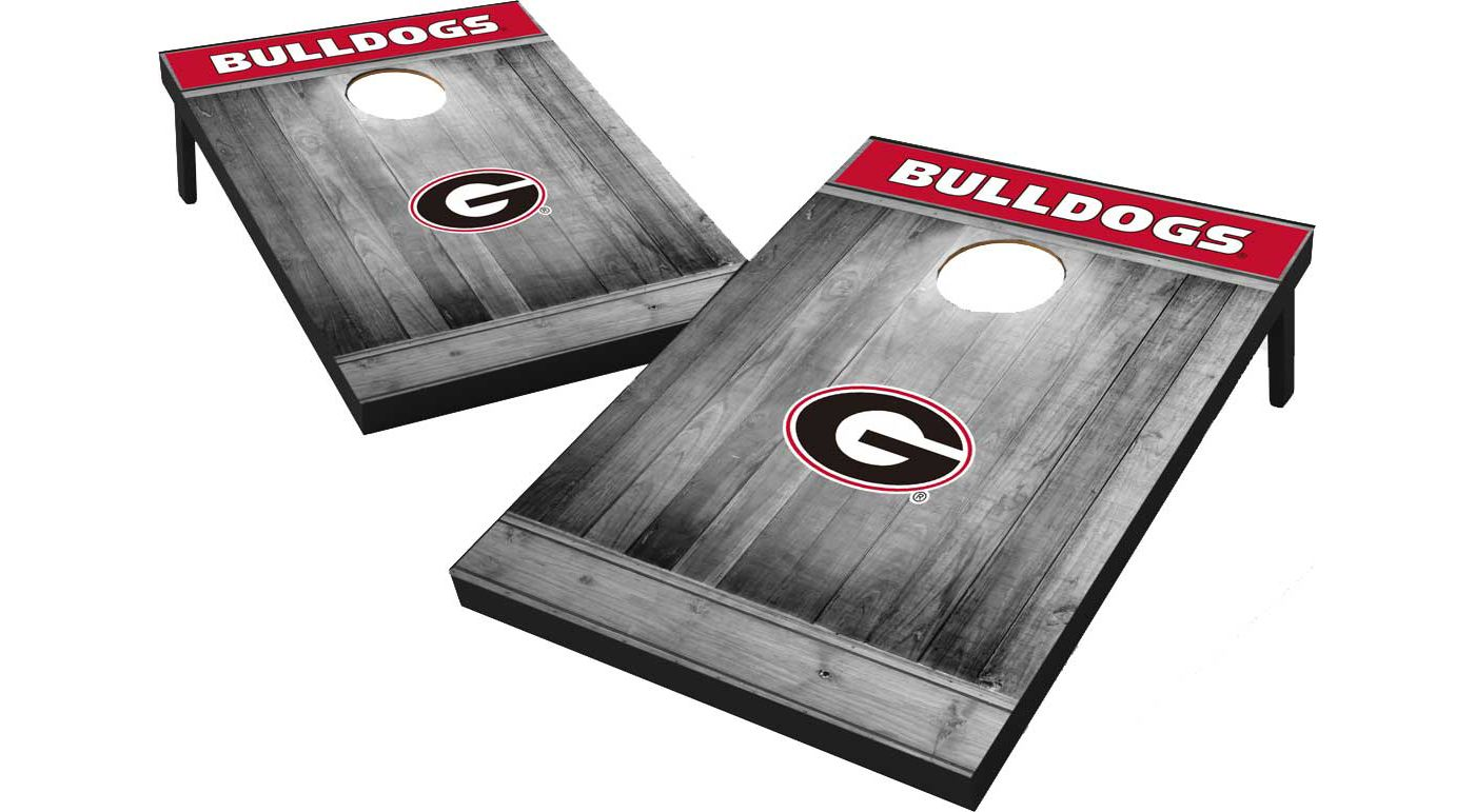 Wild Sports Georgia Bulldogs NCAA Grey Wood Tailgate Toss