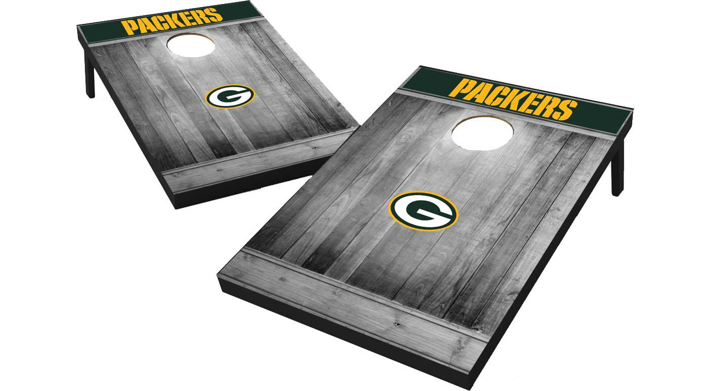 Wild Sports Green Bay Packers Grey Wood Tailgate Toss