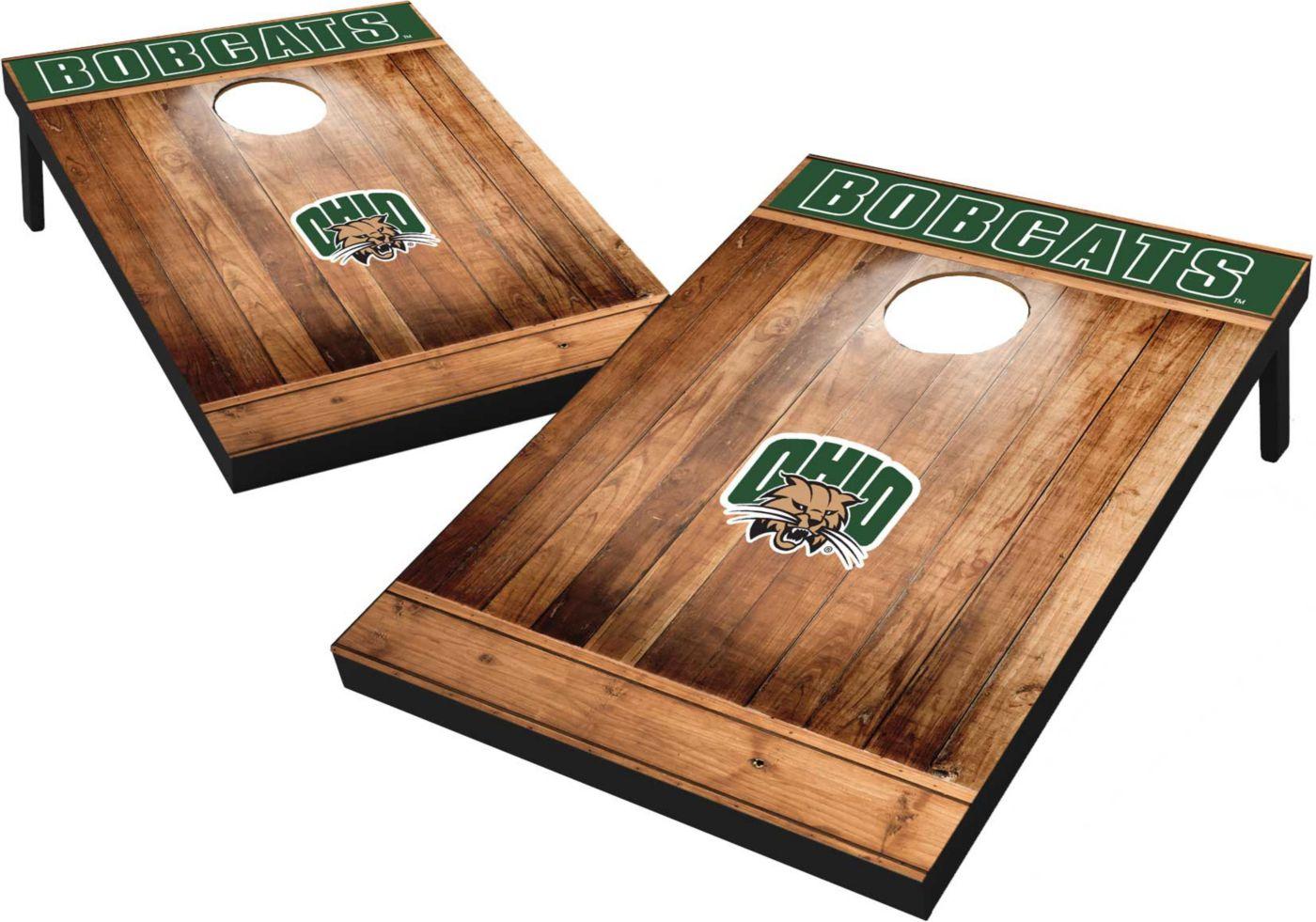 Wild Sports Ohio Bobcats NCAA Brown Wood Tailgate Toss