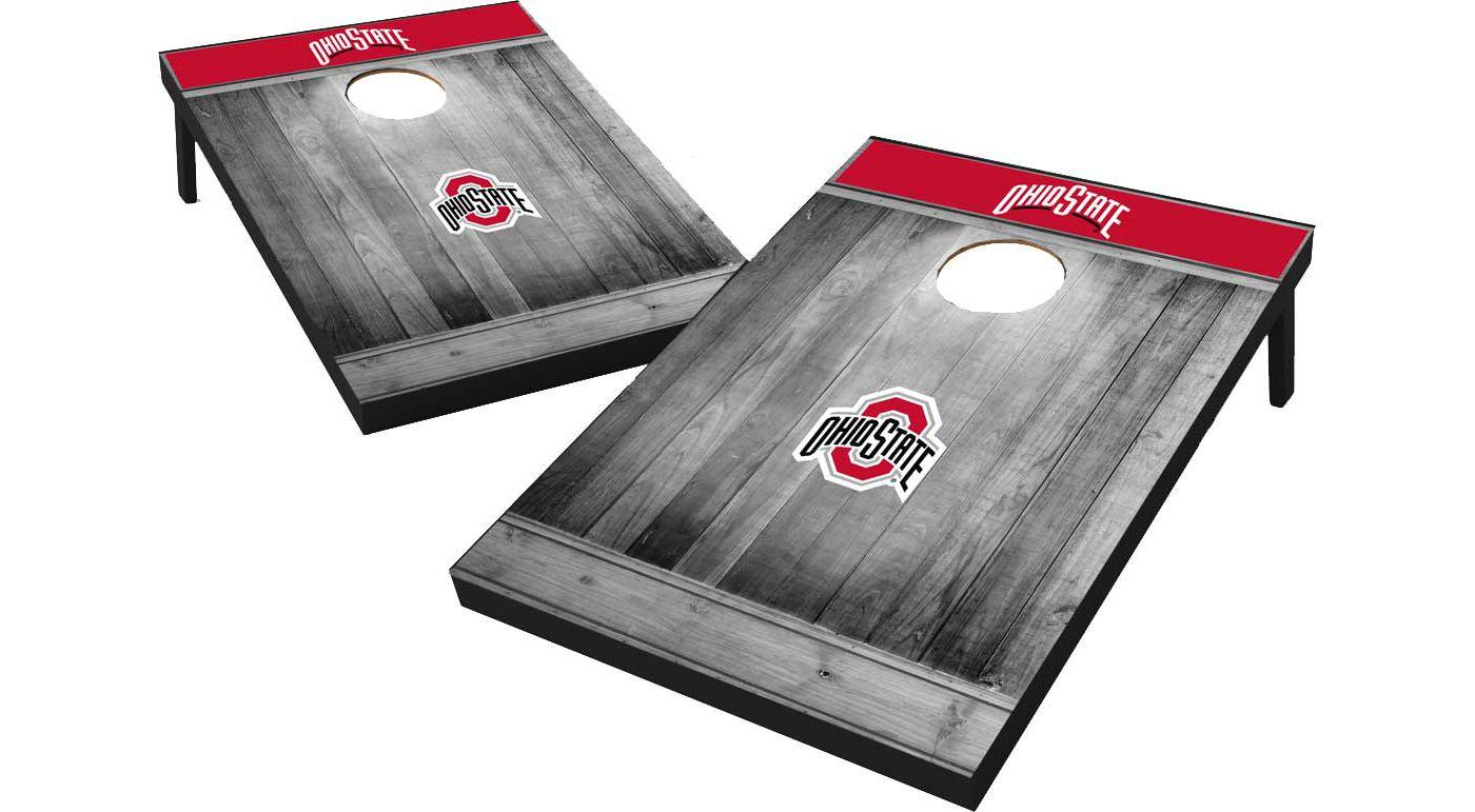 Wild Sports Ohio State Buckeyes NCAA Grey Wood Tailgate Toss