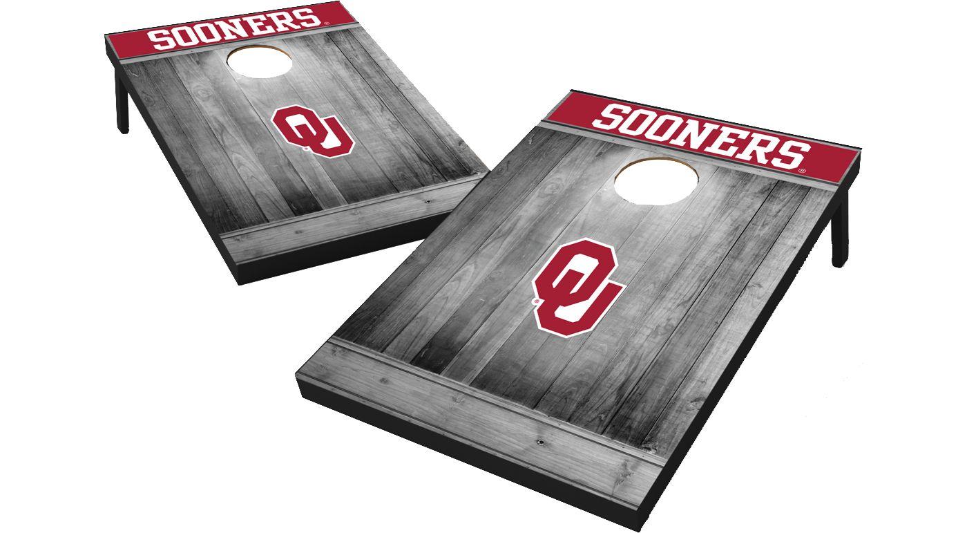Wild Sports Oklahoma Sooners NCAA Grey Wood Tailgate Toss