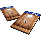 Wild Sports Kansas Jayhawks NCAA Brown Wood Tailgate Toss
