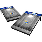 Wild Sports Kansas Jayhawks NCAA Grey Wood Tailgate Toss