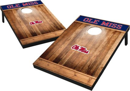 Wild Sports Ole Miss Rebels NCAA Brown Wood Tailgate Toss