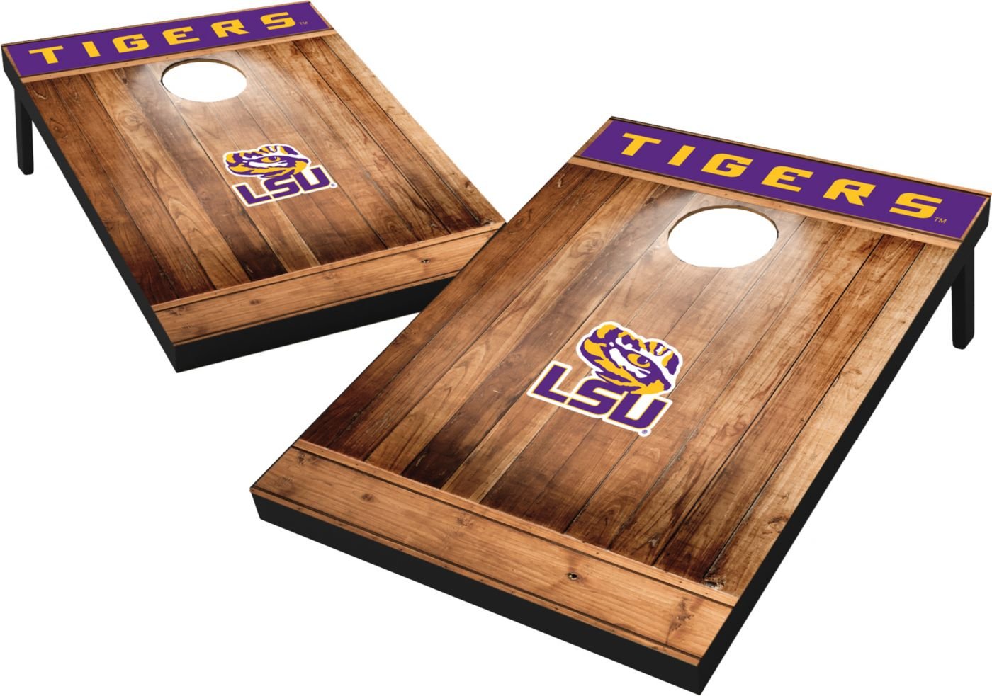 Wild Sports LSU Tigers NCAA Brown Wood Tailgate Toss