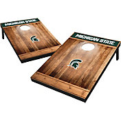 Wild Sports Michigan State Spartans NCAA Brown Wood Tailgate Toss