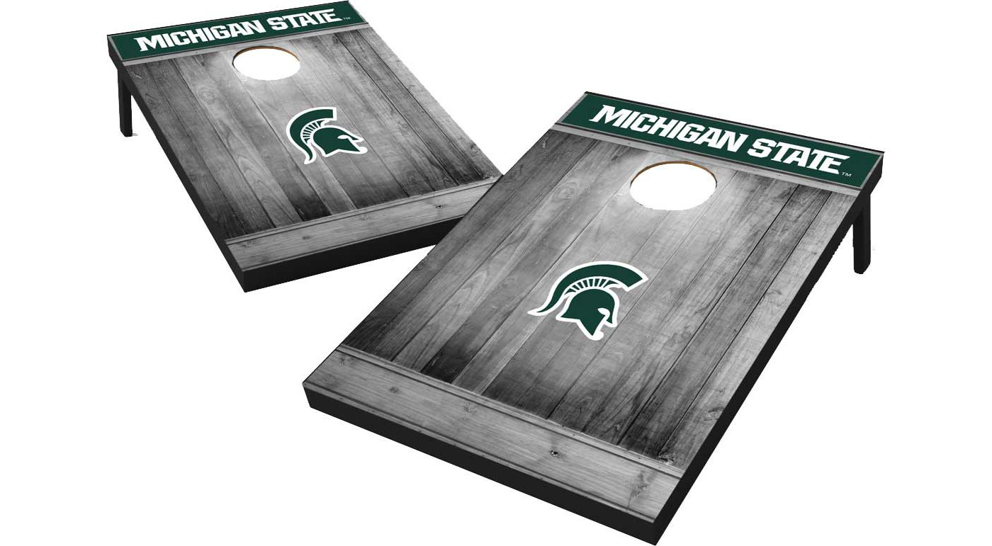 Wild Sports Michigan State Spartans NCAA Grey Wood Tailgate Toss