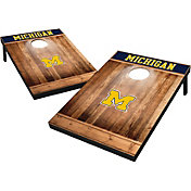 Wild Sports Michigan Wolverines NCAA Brown Wood Tailgate Toss