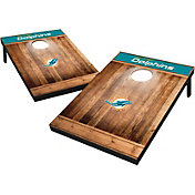 Wild Sports Miami Dolphins Brown Wood Tailgate Toss