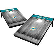 Miami Dolphins Grey Wood Tailgate Toss