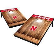 Wild Sports Nebraska Cornhuskers NCAA Brown Wood Tailgate Toss