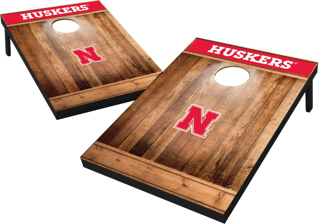 Magnificent Wild Sports Nebraska Cornhuskers Ncaa Brown Wood Tailgate Toss Ibusinesslaw Wood Chair Design Ideas Ibusinesslaworg