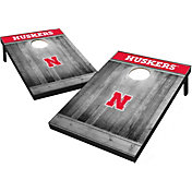 Wild Sports Nebraska Cornhuskers NCAA Grey Wood Tailgate Toss