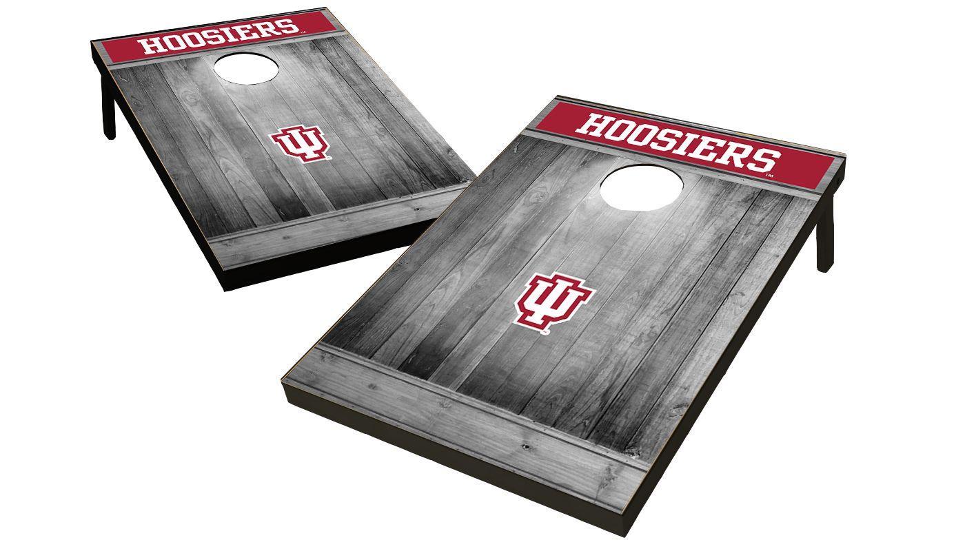 Wild Sports Indiana Hoosiers NCAA Grey Wood Tailgate Toss