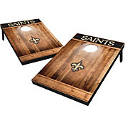 Wild Sports New Orleans Saints Brown Wood Tailgate Toss