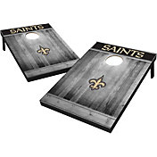 New Orleans Saints Grey Wood Tailgate Toss