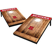 Wild Sports Rutgers Scarlet Knights NCAA Brown Wood Tailgate Toss