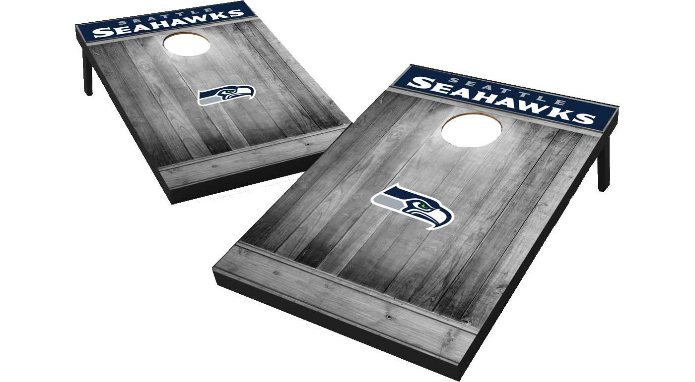 Seattle Seahawks Grey Wood Tailgate Toss