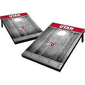 Wild Sports Utah Utes NCAA Grey Wood Tailgate Toss