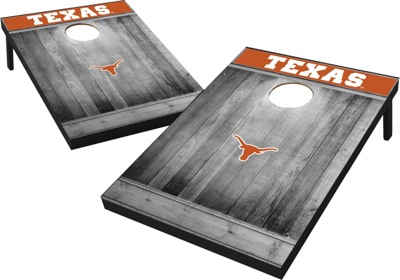 Wild Sports Texas Longhorns NCAA Grey Wood Tailgate Toss