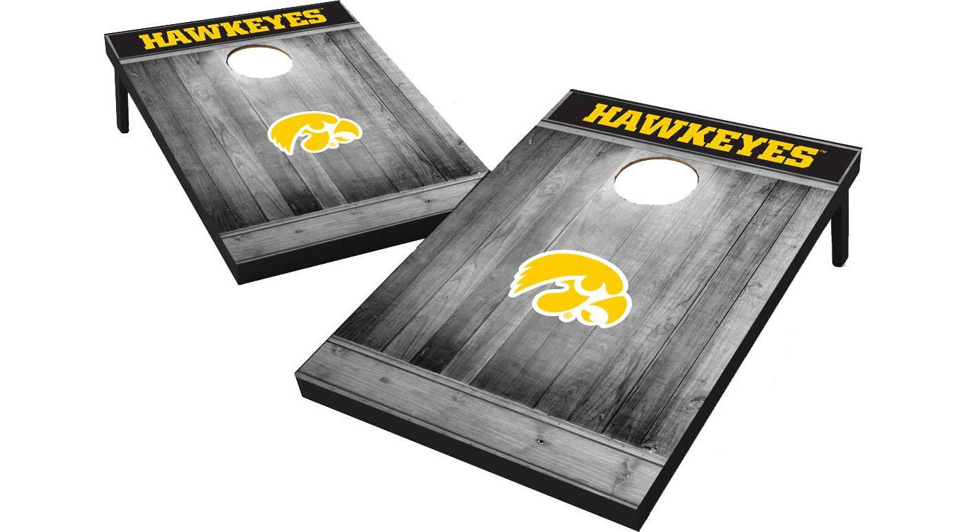 Wild Sports Iowa Hawkeyes NCAA Grey Wood Tailgate Toss