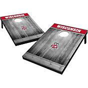 Wild Sports Wisconsin Badgers NCAA Grey Wood Tailgate Toss