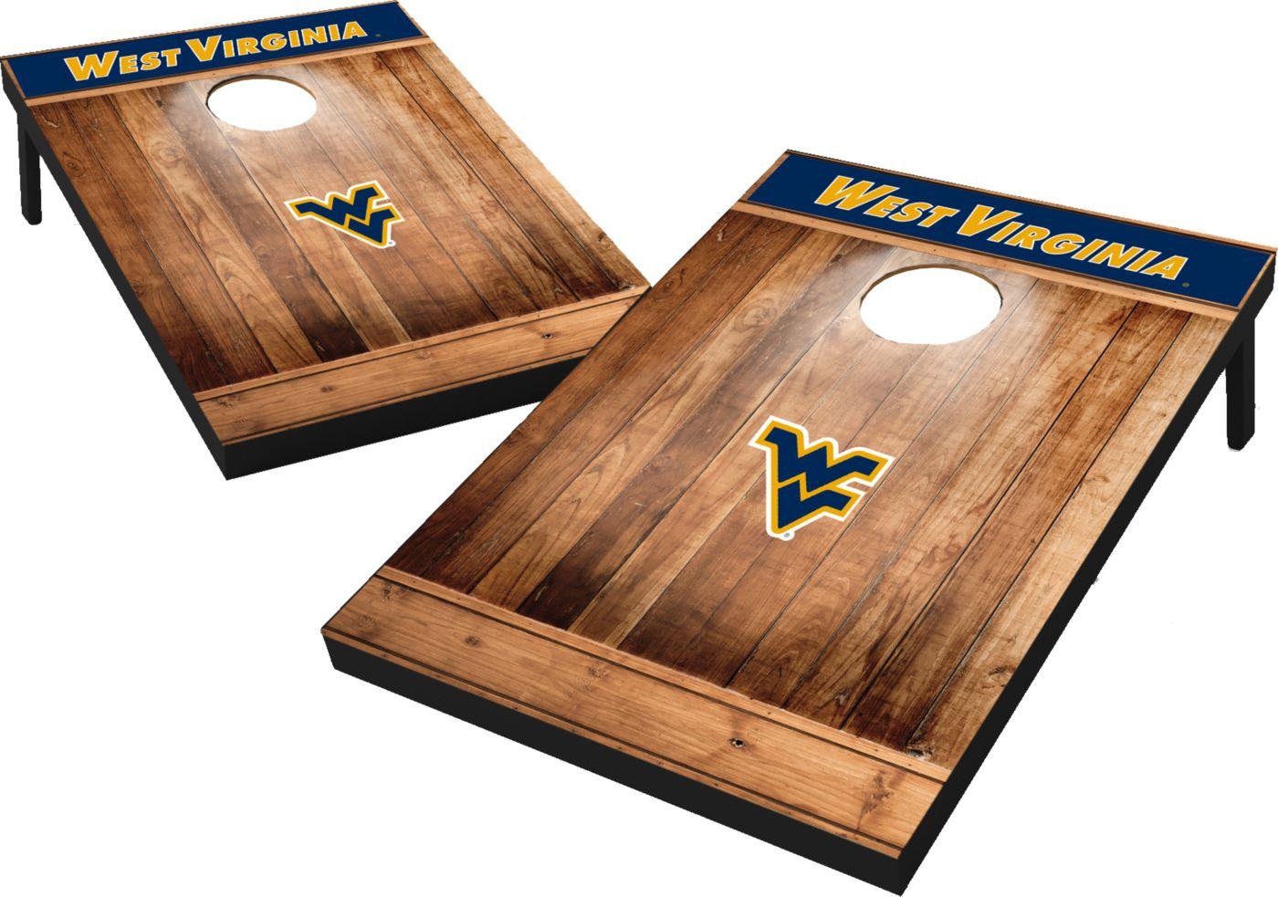 Wild Sports West Virginia Mountaineers NCAA Brown Wood Tailgate Toss