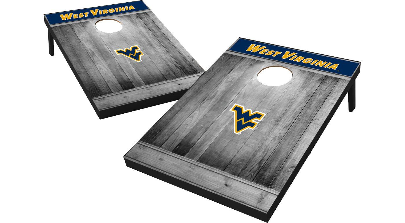 Wild Sports West Virginia Mountaineers NCAA Grey Wood Tailgate Toss