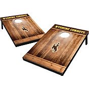 Wild Sports Wyoming Cowboys NCAA Brown Wood Tailgate Toss