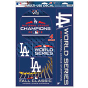"""WinCraft 2018 World Series Los Angeles Dodgers 11"""" x 17"""" Decal Sheet"""