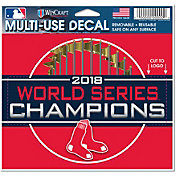 """WinCraft 2018 World Series Champions Boston Red Sox 4"""" x 4"""" Decal"""
