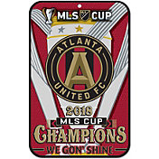 "WinCraft 2018 MLS Cup Champions Atlanta United 11"" x 17"" Sign"