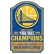 WinCraft 2018 NBA Champions Golden State Warriors Wood Sign