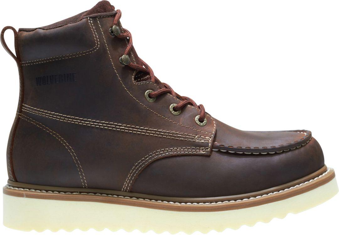 1af6617e4de Wolverine Men's Loader 6'' Wedge Steel Toe Work Boots