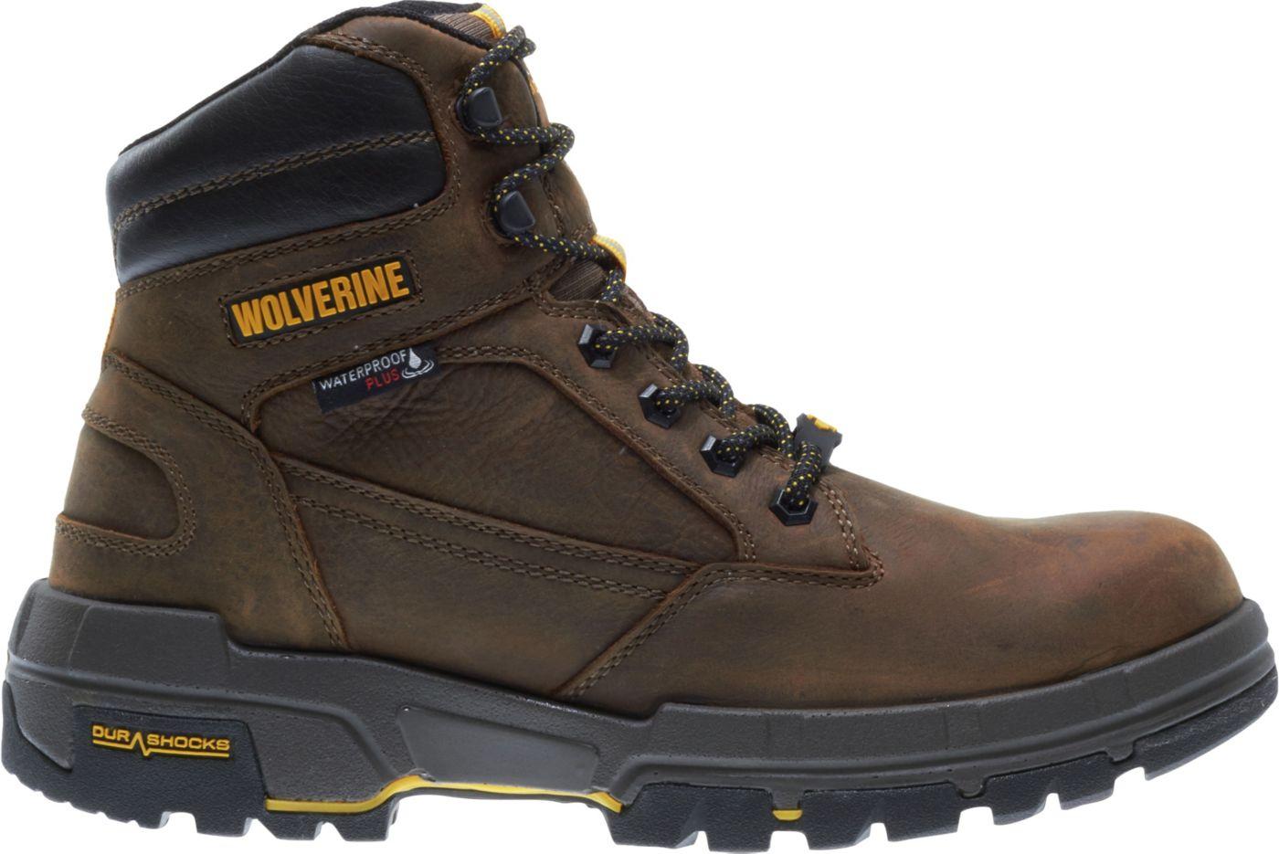 Wolverine Men's Legend LX 6'' DuraShocks CarbonMAX Waterproof Composite Toe Work Boots