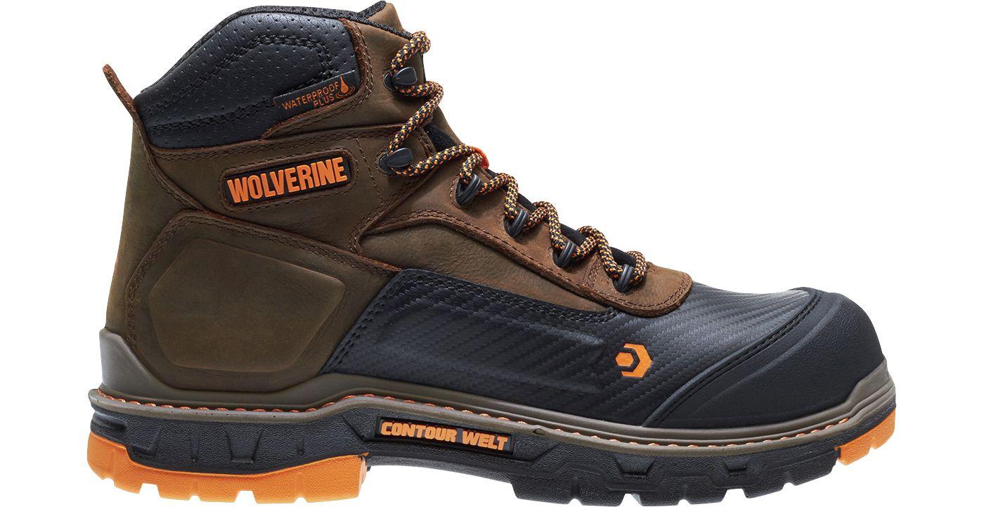 Wolverine Men's Overpass CarbonMAX 6'' Waterproof Composite Toe Work Boots