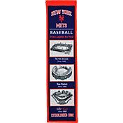 Winning Streak Sports New York Mets Stadium Evolution Banner