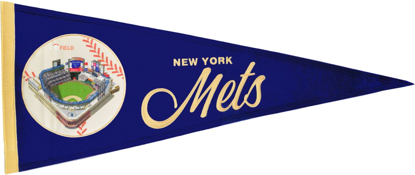 Winning Streak Sports New York Mets Vintage Ballpark Pennant