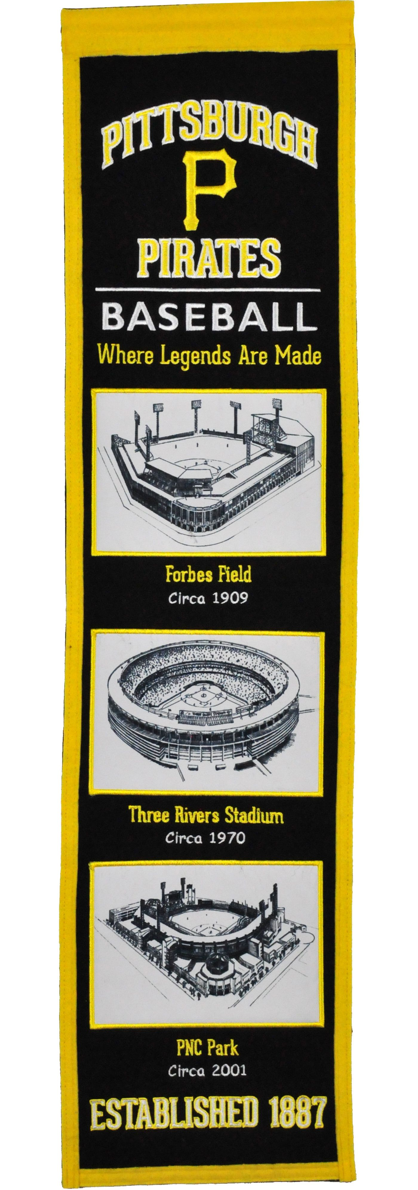 Winning Streak Sports Pittsburgh Pirates Stadium Evolution Banner